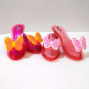 2 x Disney girls dress up heels Minnie Mouse EUC
